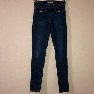 LEVI'S 721 High Rise Skinny Blue Jeans 24